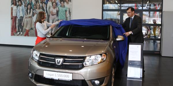 a client from romania is the owner of the dacia logan vehicle with number 1 500 000 dacia. Black Bedroom Furniture Sets. Home Design Ideas